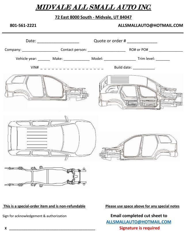 4 Door SUV Cut Sheet