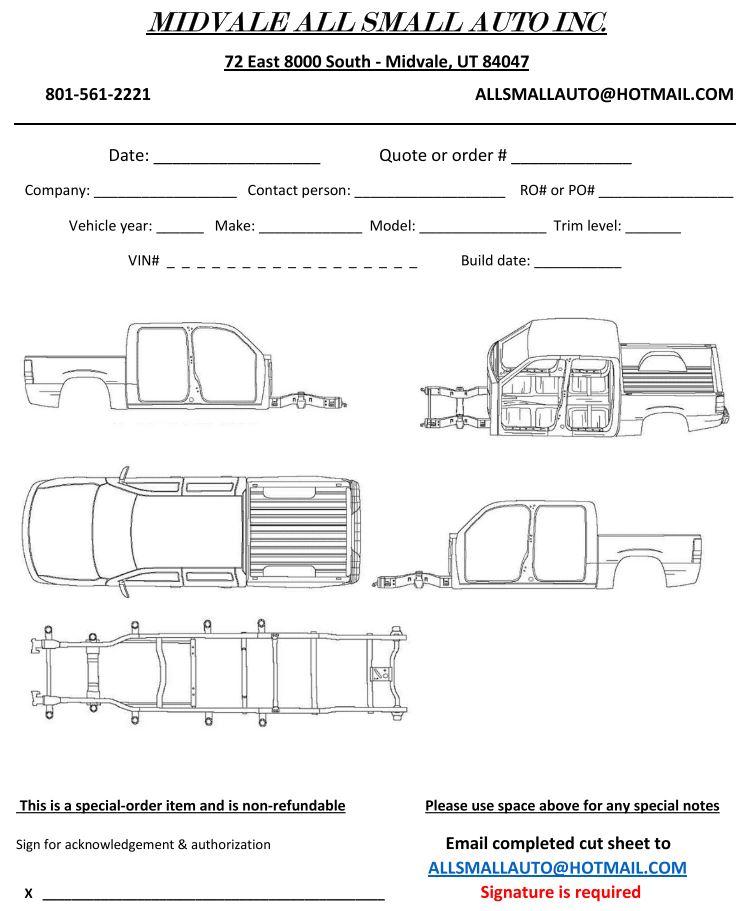 Crew Cab Truck Cut Sheet