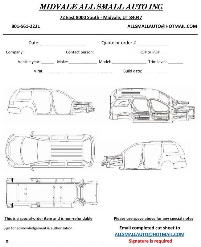 Minivan Cut Sheet